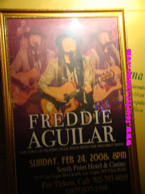 OLD PHOTOS OF SINGER  FREDDIE AGUILAR  INSIDE HIS CLUB