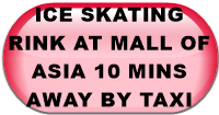 ICE SKATING RINK AT MALL OF ASIA 10 MINS AWAY BY TAXI